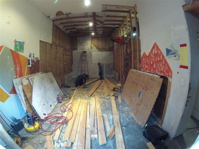 Family Builds The Coolest Wall Ever While Renovating A Room In Their Home