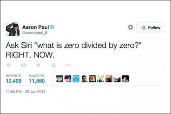 The Internet Reacts After Asking Siri To Divide 0 By 0