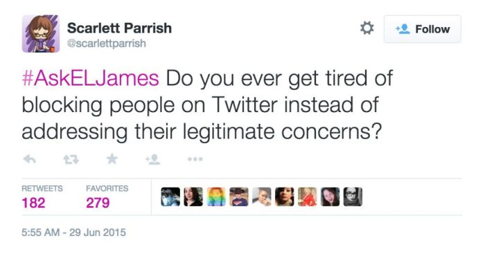 50 Shades Of Grey Author Gets Burned To The Ground During Twitter Q & A