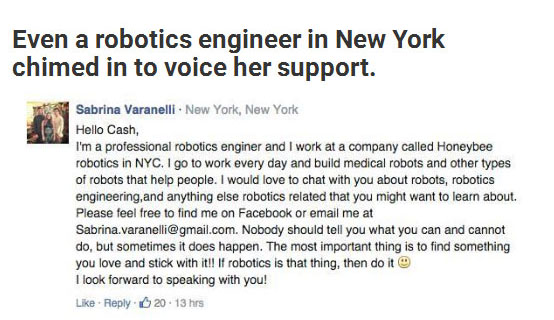 Girl Starts Petition So She Can Attend The 'Boys Only' Robotics Class