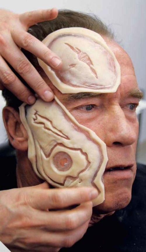 The Evolution Of The Terminator's Makeup From 1984 to 2015, part 2015