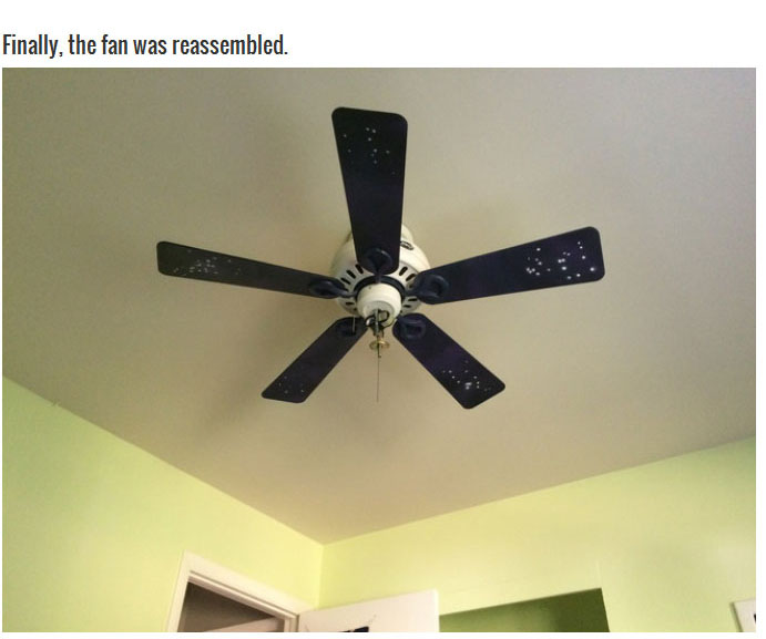 Boring Old Ceiling Fan Gets An Out Of This World Makeover