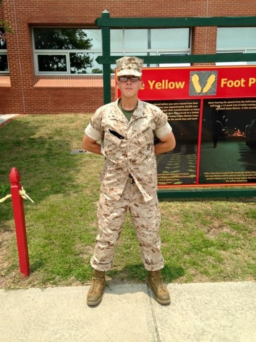 After Being Overweight For Years This Man Slimmed Down To Become A Marine