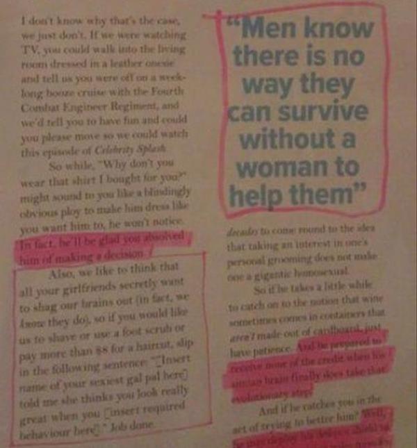 Reading Too Many Women's Magazines Will Make You Stupid