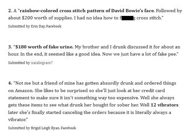 People Reveal The Random Purchases They've Made Online While Drunk