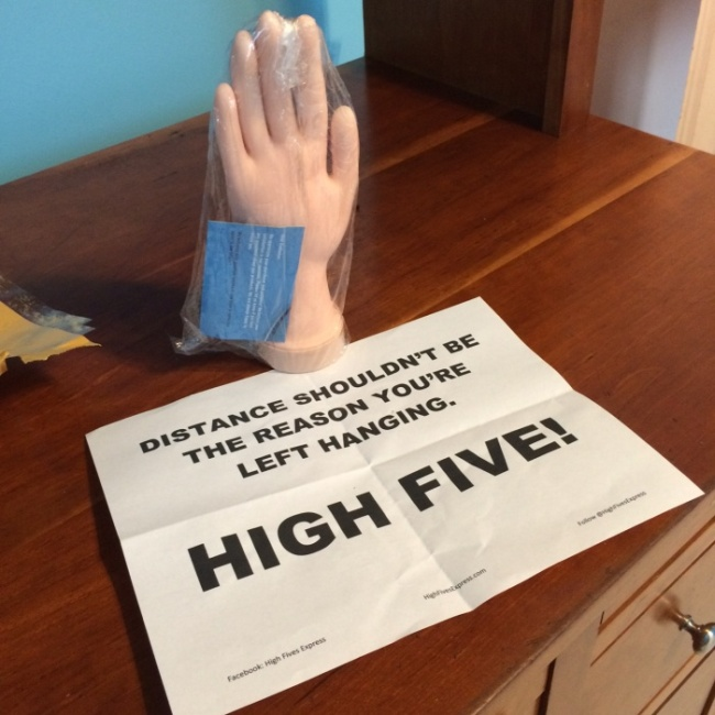 This Has To Be The Coolest Long Distance High Five Ever