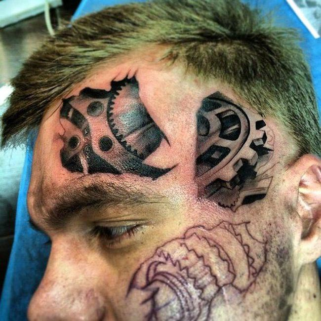 This Guy Got A Crazy Looking Tattoo On His Face