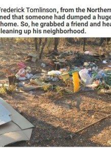 Illegal Dumper Gets A Taste Of His Own Medicine