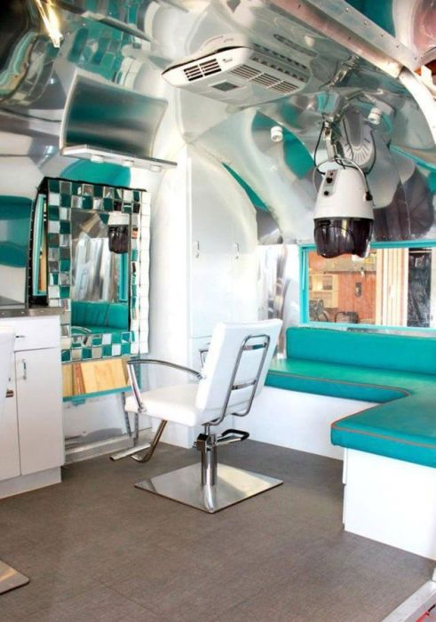 Old Trailer Gets Converted Into A Barber Shop On Wheels