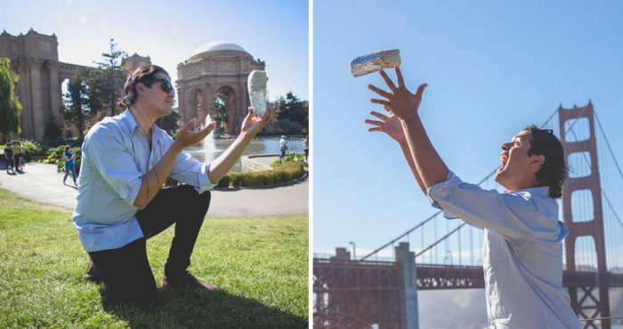 Meet The Man Who Took Engagement Photos With A Burrito