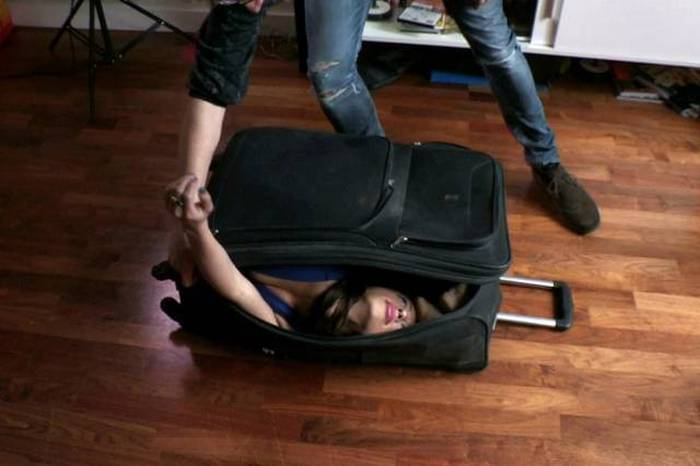 This Girl Is So Flexible That She Can Fit Herself Inside A Suitcase