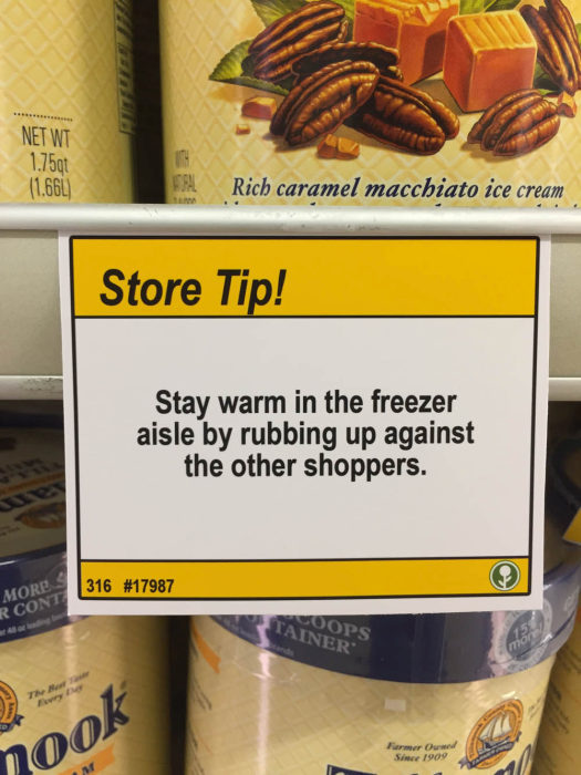 Hilarious Shopping Tips Found At A Local Grocery Store