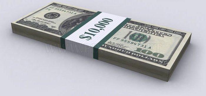 Representation of US Debt With $100 Bills