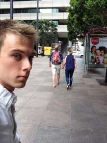 Man Spends 3 Years Taking Awkward Selfies As The Third Wheel