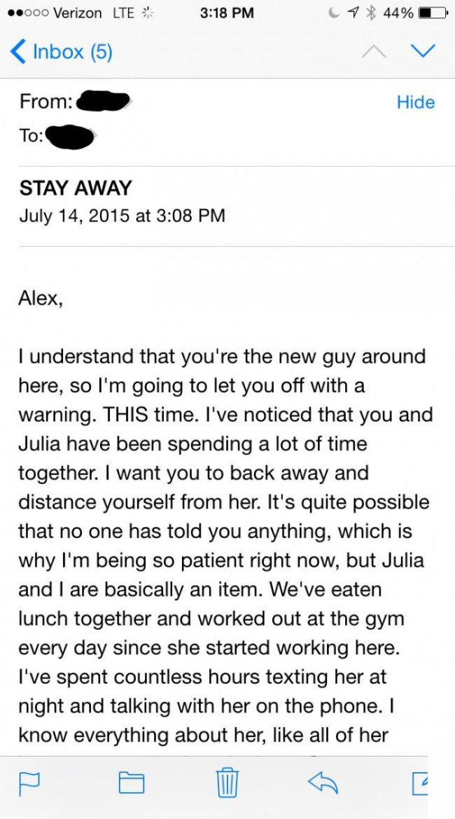 This Guy Got The Creepiest E-Mail Ever From His Co-Worker