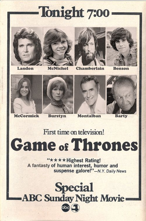 What Game Of Thrones Would Look Like If It Was A 1977 TV Movie