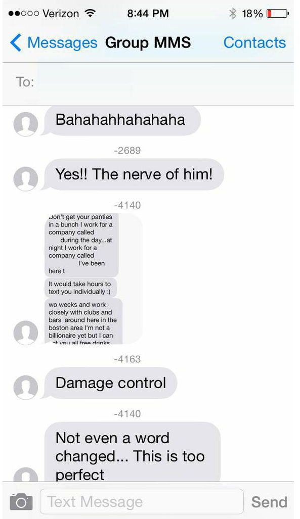 Tinder group message