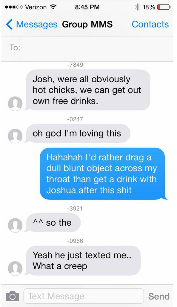 Guy Sends Group Message To 32 Tinder Girls And It Goes Horribly Wrong
