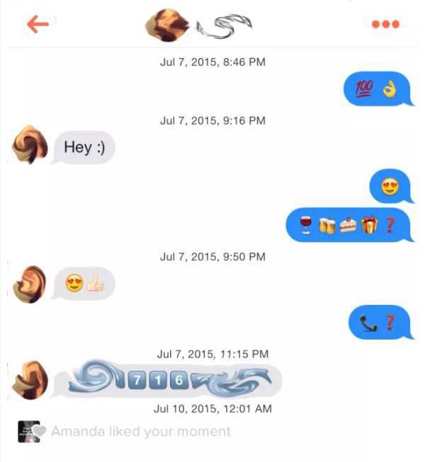 This Guy Doesn't Even Have To Use Sentences To Get Girls On Tinder