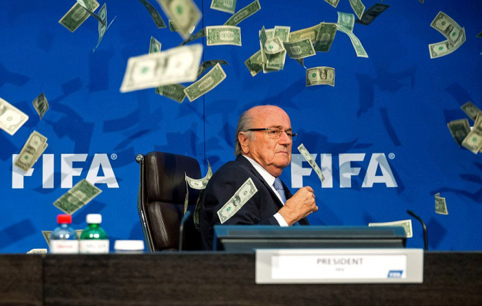 Discgraced FIFA President Sepp Blatter Gets Bribed By A Comedian