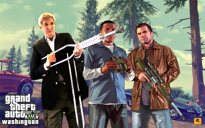 John Kerry And His Crutch Gun Got The Photoshop Treatment They Deserve