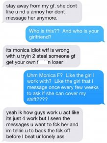 Girlfriend's Co Worker Puts Her Possessive Boyfriend In His Place