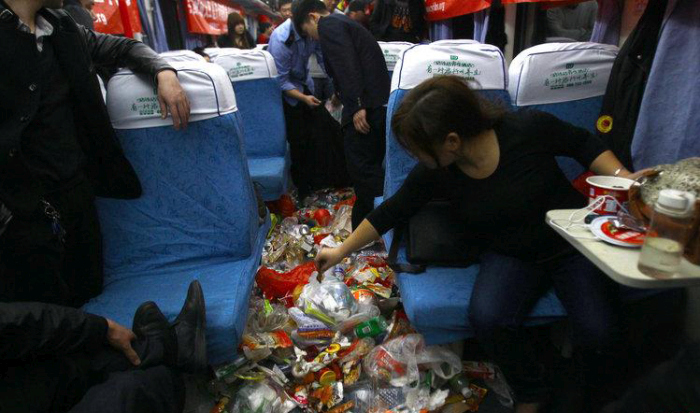 What A Chinese Train Looks Like During Rush Hour