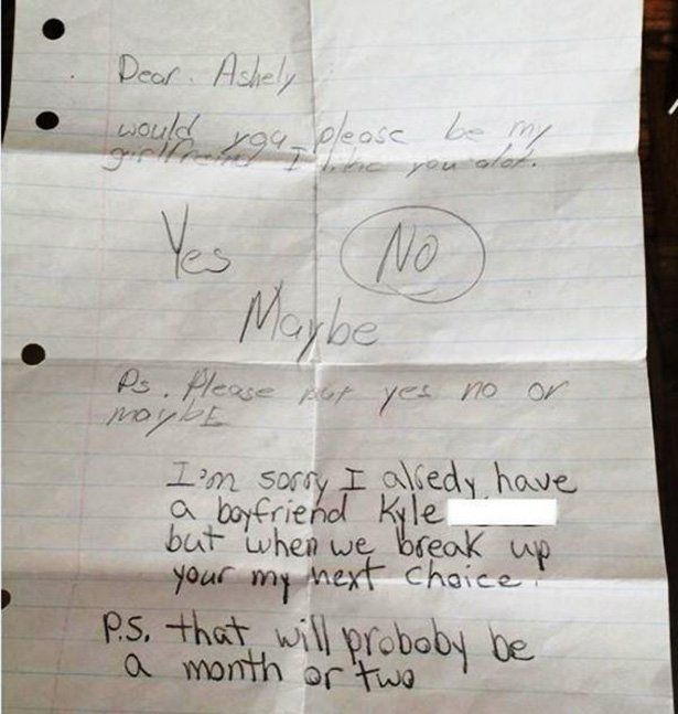 Little Kids Hold Nothing Back In These Brutal Break Up Letters