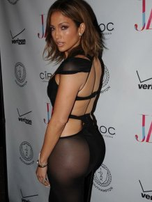 Jennifer Lopez Wears A See Through Dress While Celebrating Her 46th Birthday