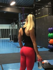 Hot girls in tight yoga pants