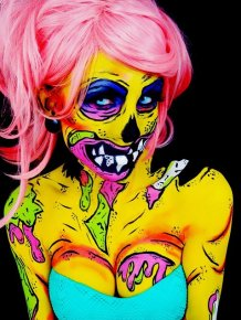 Artist Uses Herself As A Canvas To Create Mesmerizing Body Paintings