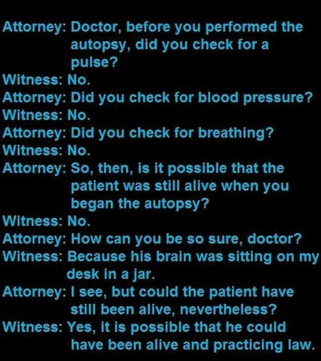You Won't Believe The Things That People Say In Court Rooms