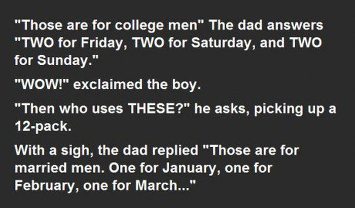 Son Asks Dad Questions About Condoms And Gets An Unexpected Response