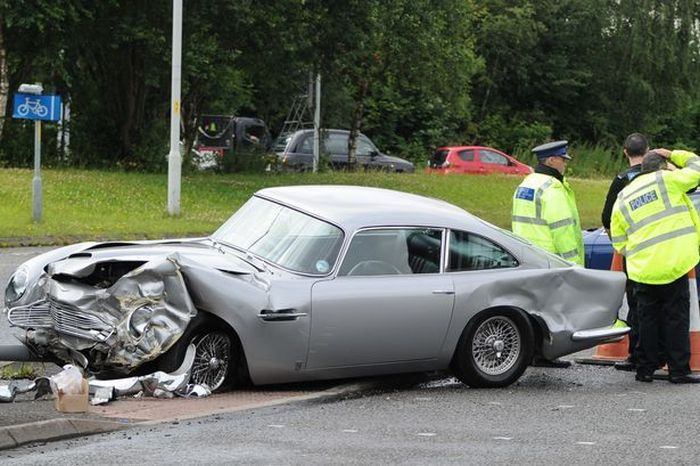 Aston Martin Gets Destroyed In A Head End Collision