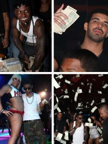 Money Rain at The Strip Club In Miami