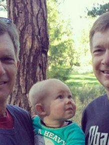 Baby Can't Figure Out Which One Of These Twins Is His Grandfather