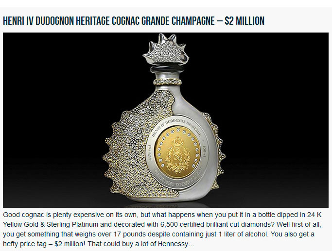 Take A Look At The Most Expensive Booze In The Entire World