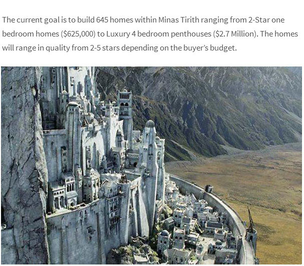 Architects In Britain Are Trying To Build A Full Scale Minas Tirith From Lord Of The Rings