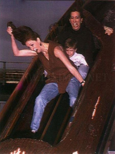 Girls Flashing On Roller Coaster