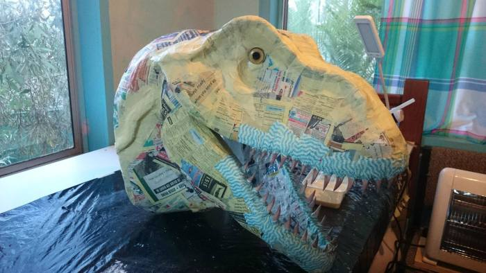 How To Make A Tyrannosaurus Rex Head At Home