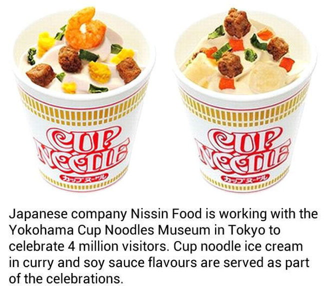 Cup Noodle Ice Cream With Shrimp And Egg Is Now Being Served In Japan