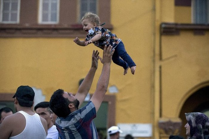 Migrants From The Middle East Pack This Train To Europe