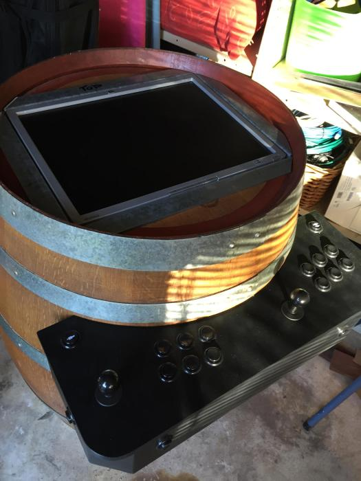 This DIY Arcade Game In A Barrel Is Something We All Wish We Had