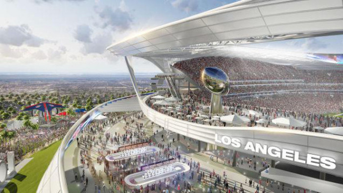 Concept art shows what the new nfl stadium in los angeles for Craft fairs los angeles