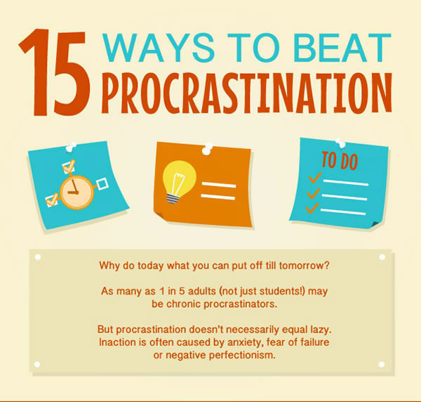 15 Tips To Help You Overcome Procrastination