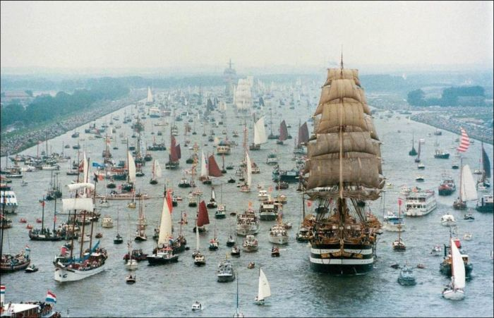 The Sail Amsterdam Festival Kicks Off With A Massive Gathering Of Boats