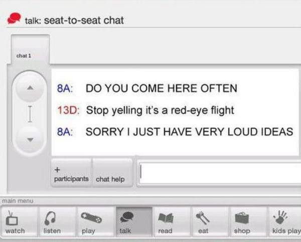 Virgin Airlines Has Their Own In Flight Messaging System And It's Hilarious