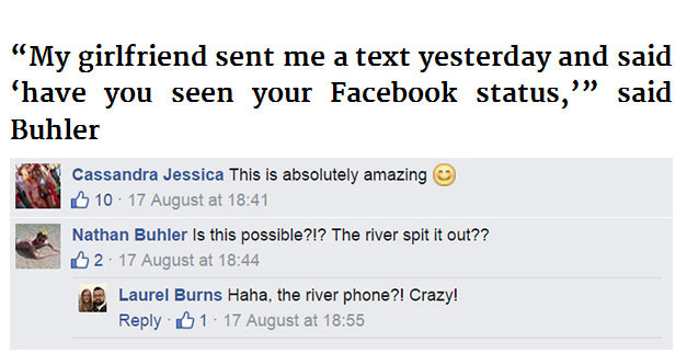 This Guy Lost His Phone In A River But Then Something Strange Started Happening