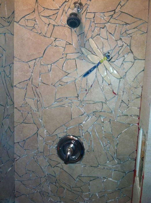 He Broke His Tile Then Put It Back Together To Make Something Awesome