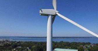 Drone Spots Man Sunbathing On Top Of A 200 Ft Tall Wind Turbine